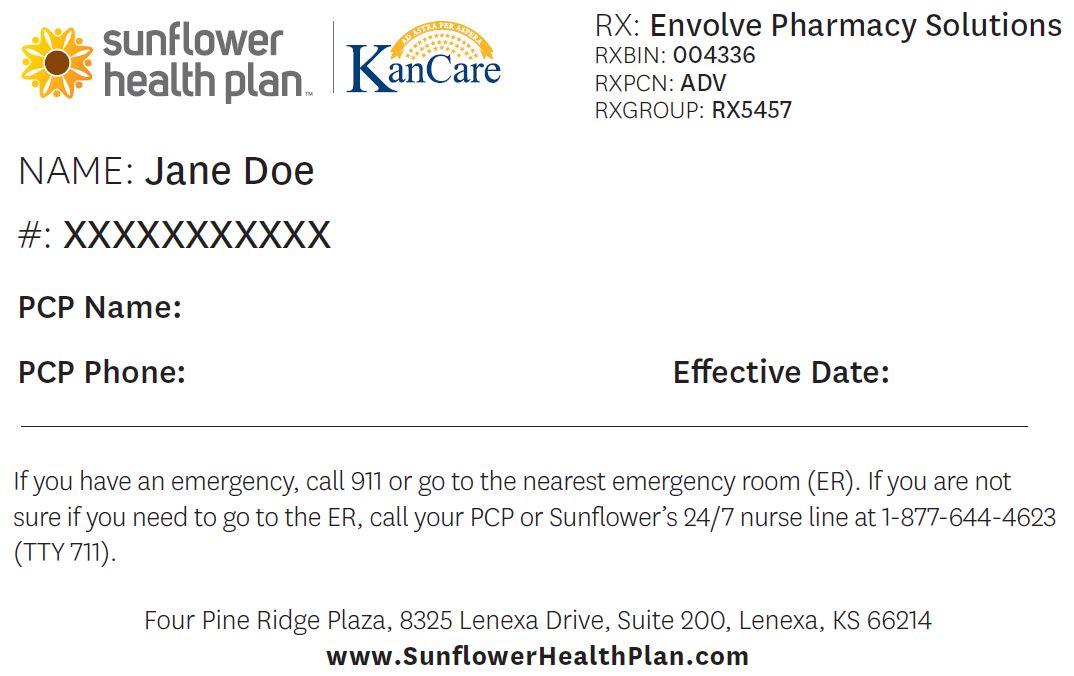 New Member Id Cards Effective June 1, 2017   Sunflower ...